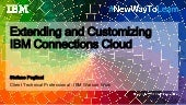 Nwtl2017 extending and customizing ibm connections cloud