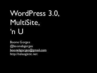 WordPress NYC Meetup 5-18-2010: WordPress Multisite