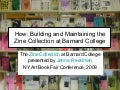 NY Art Book Fair Barnard Zines