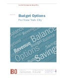 Budget Options for The City of New York