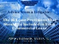 Commercial Lease Provisions - Adam Leitman Bailey
