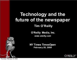 TimesOpen Keynote: Technology and the Future of the Newspaper