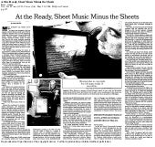 At the Ready, Sheet Music Minus the Sheets - New York Times - by Adam Baer