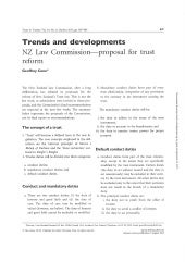 NZ Law Commission - Proposal for Trust Reform - Trusts and Trustees - October 2013