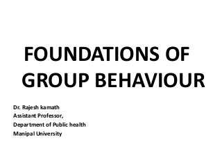 O.b. c 9 foundations of group behaviour