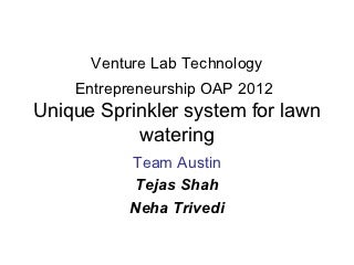 Venture Lab Technology Enrepreneaurship OAP 2012