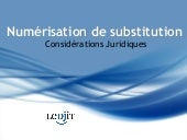 Numérisation de substitution