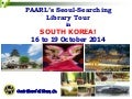 Pre-departure orientation for Seoul library benchmarking tour