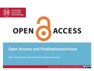 Open Access und Publikationsservices