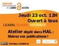 Atelier dépôt dans HAL : libérez vos publications ! #OAW2014