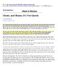 PRESIDENT BARACK OBAMA - Related To George W Bush & Dick Cheney