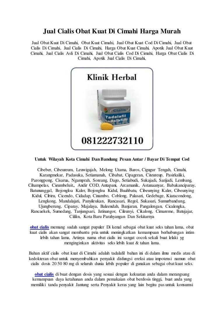 Jual Cialis Obat Kuat Di Cimahi 081222732110 Harga Murah