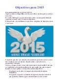 Objectivos para 2015