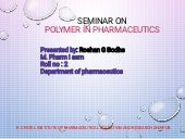 polymer in pharmacy and application of polymers