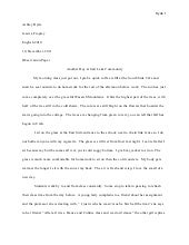 observation essay on a restaurant