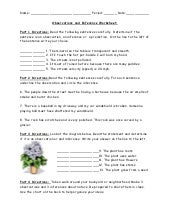 Observations And Inference Worksheet