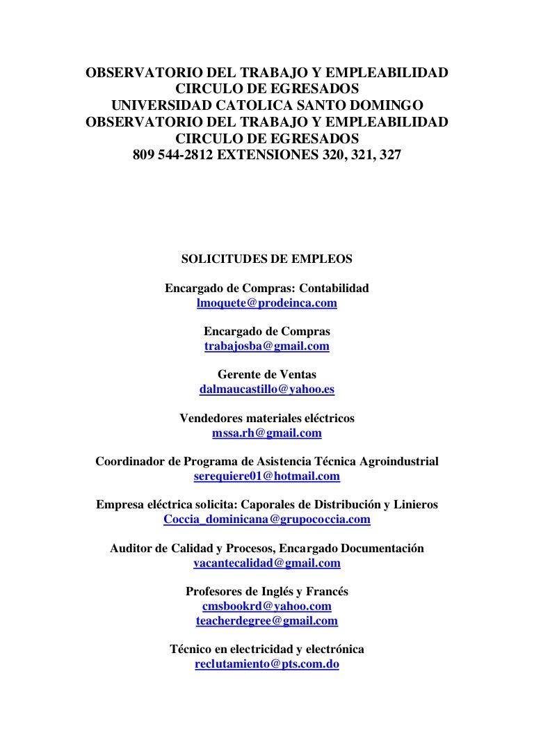 Observatorio del Trabajo y Empleabilidad 2009