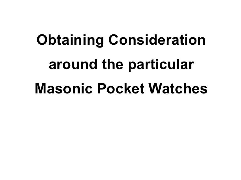 Obtaining consideration around the particular masonic