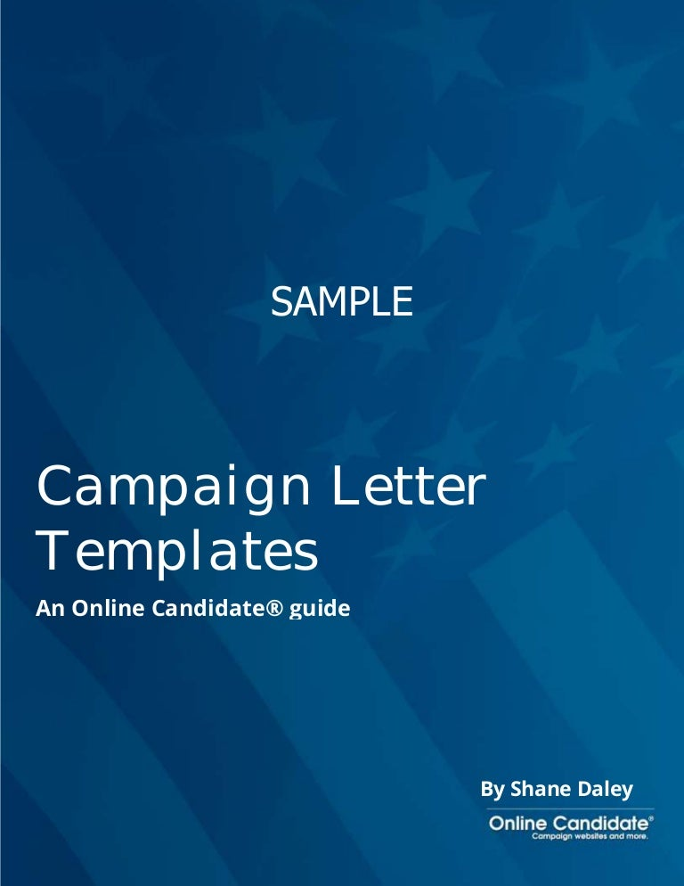 Political Campaign Letter Templates - Sample