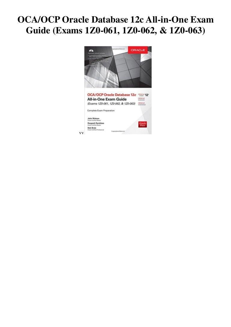 Workbooks civil engineering fe exam preparation workbook : Oca ocp oracle database 12c all in-one exam guide (exams 1 z0-061, 1z…