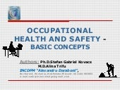 Occupational health and safety- basic concepts