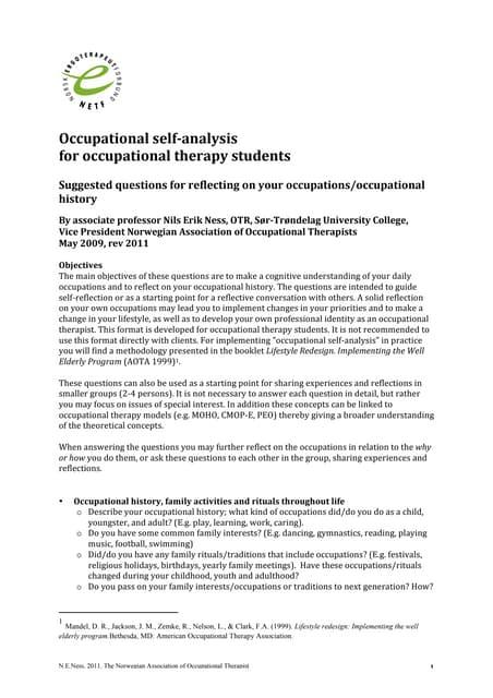 Occupational self-analysis-ot-students-2011(2)