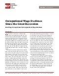 Occupational Wage Declines Since the Great Recession