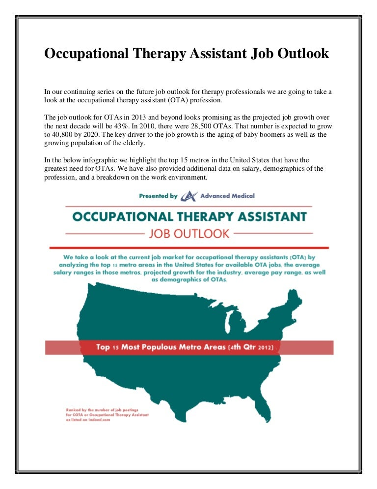 Occupational therapy assistant job outlook – Medical Assistant Job Outlook
