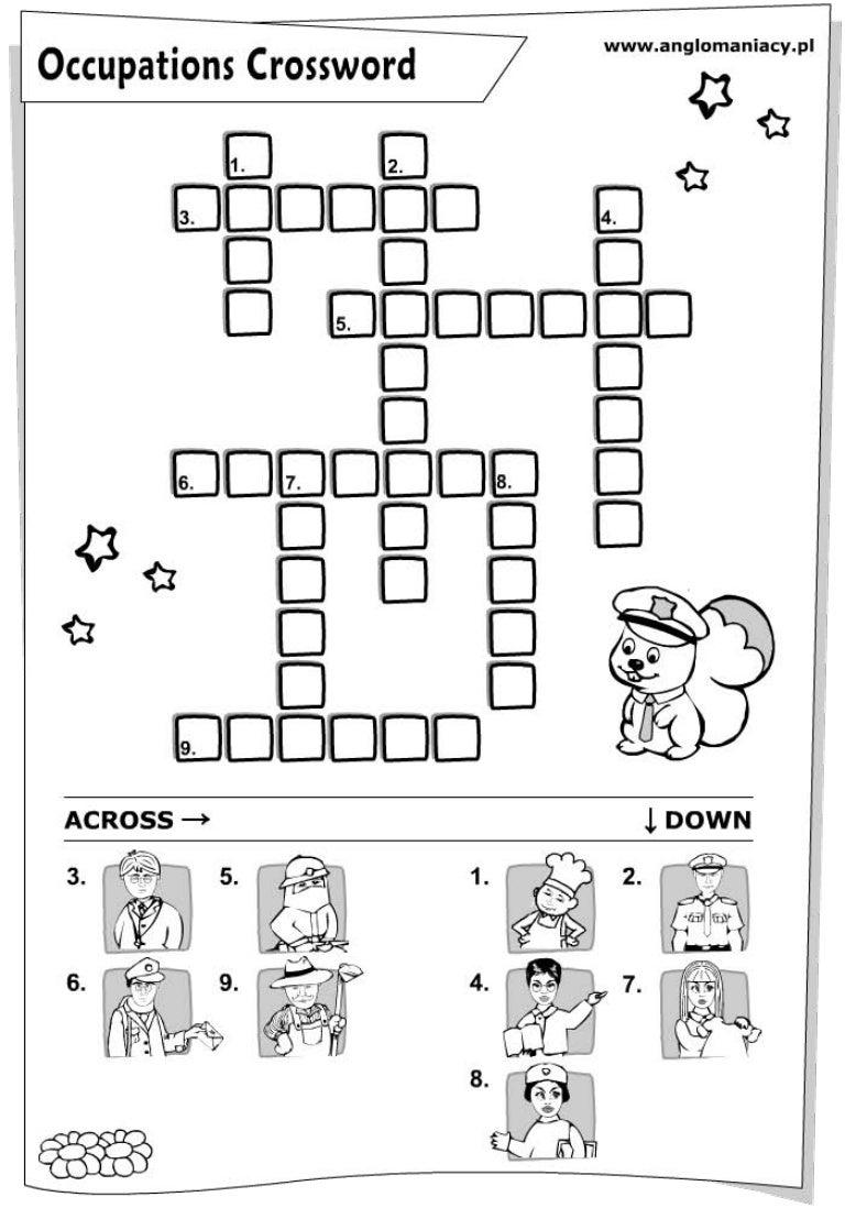 Occupations crossword