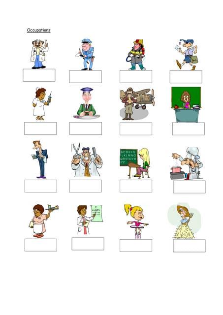 Occupations (worksheet)