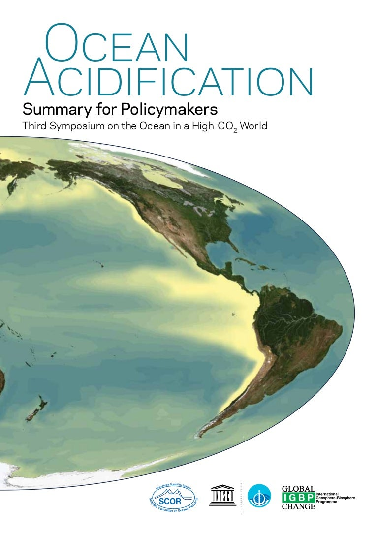 an overview of the ocean acidification Project overview high-co 2 seas: assessing the impacts of ocean acidification on marine biodiversity and species adaptation.