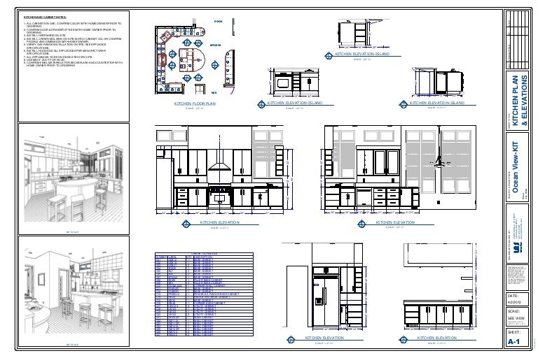 Simple Kitchen Elevation kitchen plan & elevation drawing