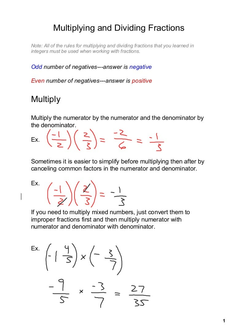 oct. 28 mult and divide fractions