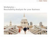Walkalytics - Reachability Analysis for your business