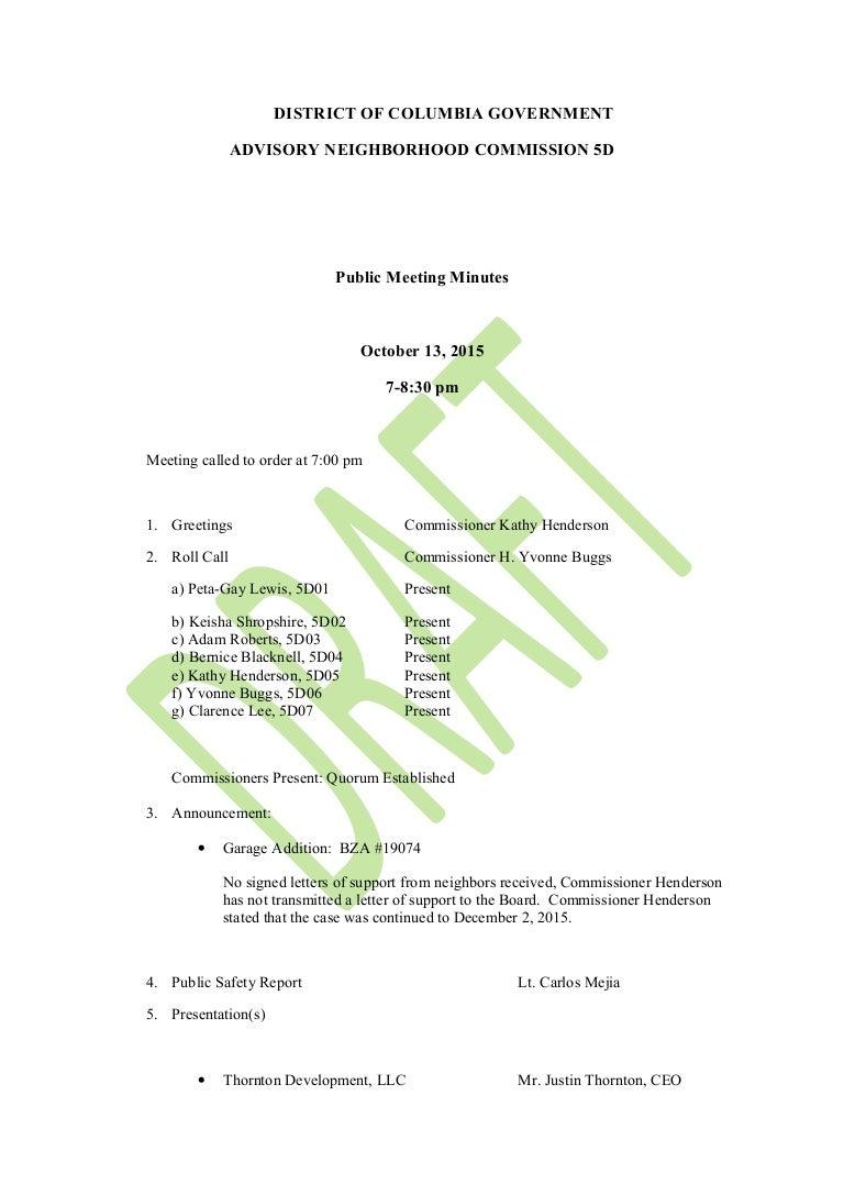 ANC 5D October 13 Meeting Minutes (draft)