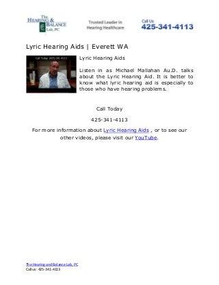 Lyric Hearing Aids - Everett WA
