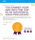 oDesk top 5% most talented and successful freelancer