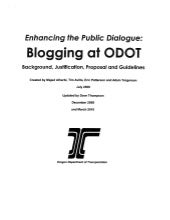 "ODOT ""Enhancing Dialogue"" Social Media Policy"
