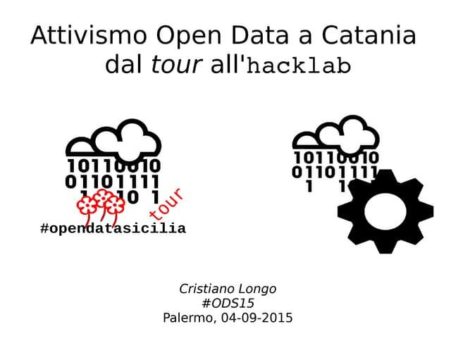 Attivismo Open Data a Catania: dal tour all'hacklab