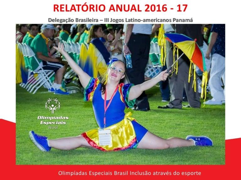 Olimpiadas Especiais Brasil Relatorio Anual 2016-17 72b44196d0fba