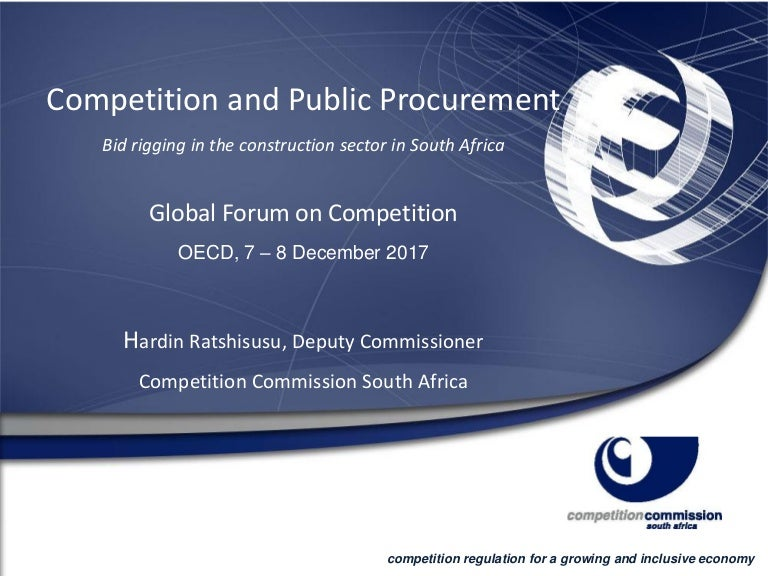 Small and developing competition agencies – Competition