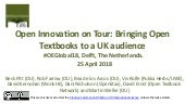 Open Innovation on Tour: Bringing Open Textbook to a UK Audience