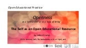 Openness as a 'worldview' or as a 'way of being'