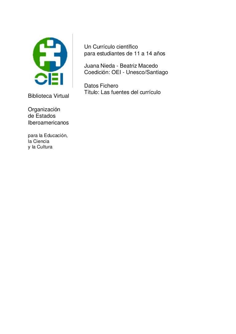 OEI - Un curriculo cientifico para estudiantes de 11 a 14 años - cap …