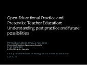 Open Educational Practice and Preservice Teacher Education