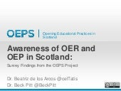 Awareness of OER and OEP in Scotland