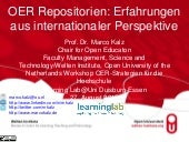 OER Repositorien: Erfahrungen aus internationaler Perspektive