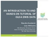 An Introduction To and Hands-On Tutorial of OLDA EMIS DATA