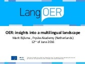 OER: insights into a multilingual landscape