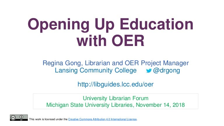Lcc Fall Semester 2020.Opening Up Education With Oer